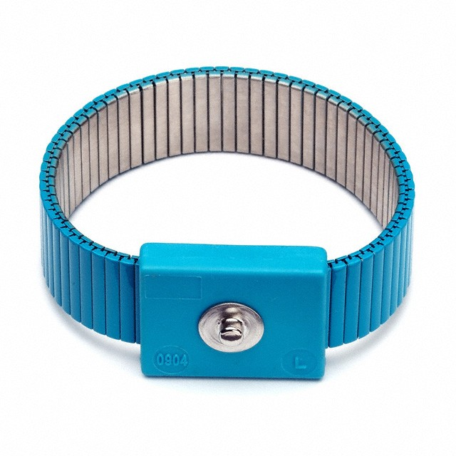 ESD Wrist Strap, Metal Blue