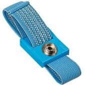 ESD Wrist Strap, Fabric Blue