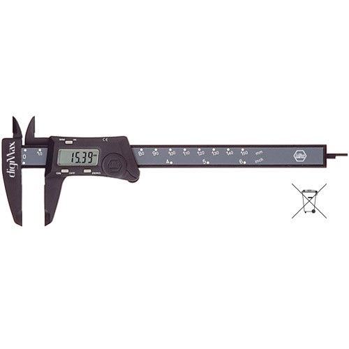 Wiha fibre-glass-reinforced calipers Digital display