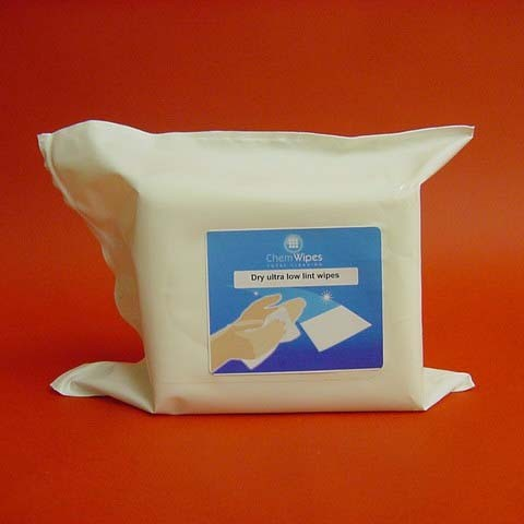 Ultra Low Lint Dry Wipes Bag