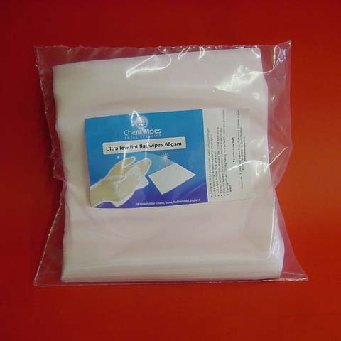 Ultra Low Lint Flat Wipes 68gsm