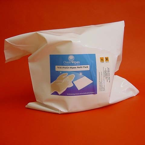 IPA/DI Wipes, Bucket Refill Pack, 250
