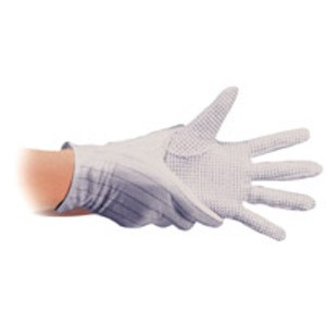 Polyester ESD Safe Gloves Dotted Palm