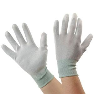 ESD Gloves, Palm Coated Grey
