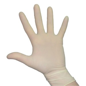 Latex Gloves Powdered, Box 100