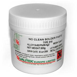 Solder Paste, Q-818, Tin/Lead, Sn62