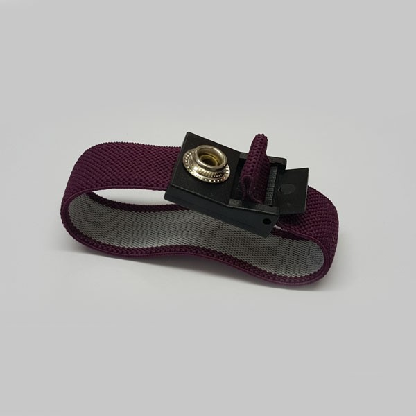 ESD Wrist Strap, Fabric Purple