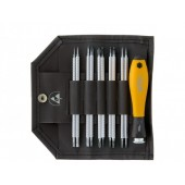 ESD System 4 Interchangeable Blade Set with SoftFinish Screwdriver Handle, 11pcs
