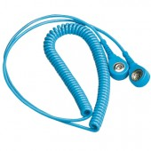 Grounding Chord, stud to stud, 6ft Blue